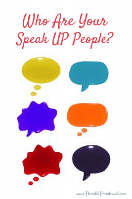 "Spiritual works of mercy and your life's ""speak up"" people"