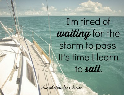 I'm learning to sail