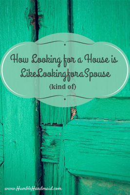 Looking for a house is (kind of) like looking for a spouse
